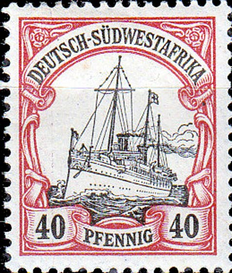 German_Southwest_Africa_1901_40pf_Genuine