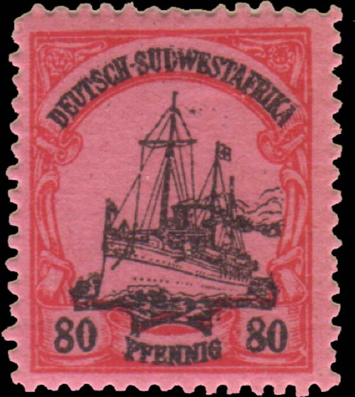 German_Southwest_Africa_1901_80pf_Fournier_Forgery
