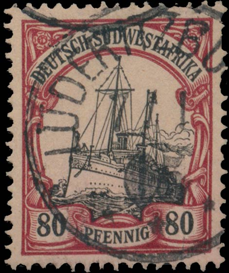 German_Southwest_Africa_1901_80pf_Genuine