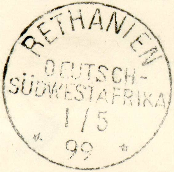 German_Southwest_Africa_Fournier_Postmark