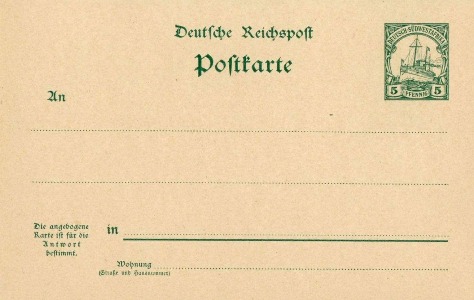 German_Southwest_Africa_Postal_Stationary_P15