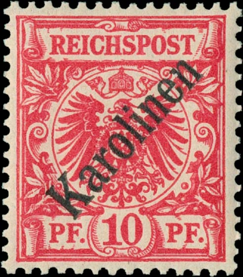 Karolinen_1897_10pf_Genuine