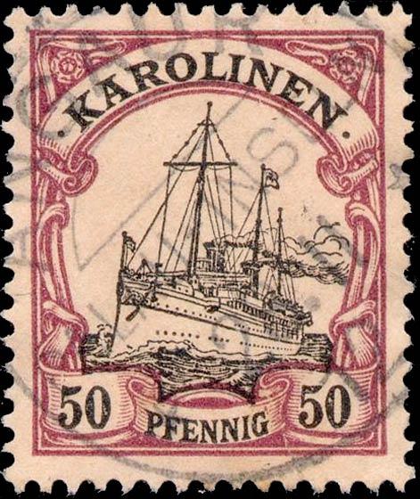 Karolinen_50pfennig_Genuine