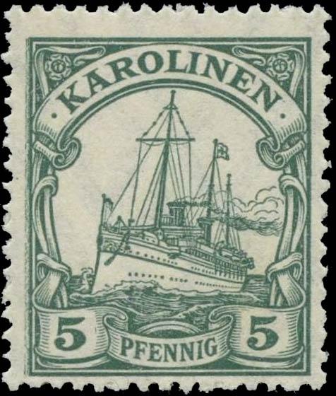 Karolinen_5pfennig_Genuine