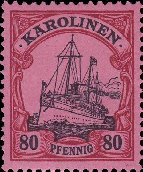 Karolinen_80pfennig_Genuine