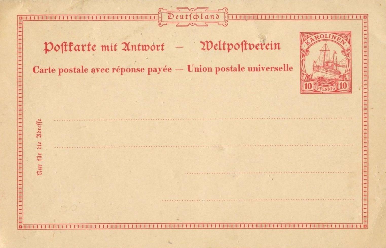 Karolinen_Postal_Stationary_P10