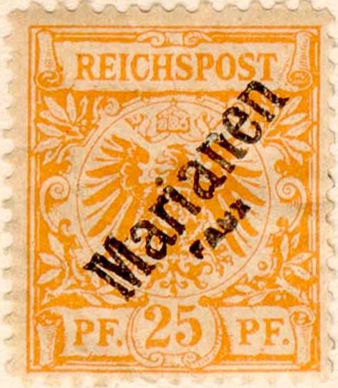 Marianen_1900_German_Reich_25pf_Fournier_Forgery