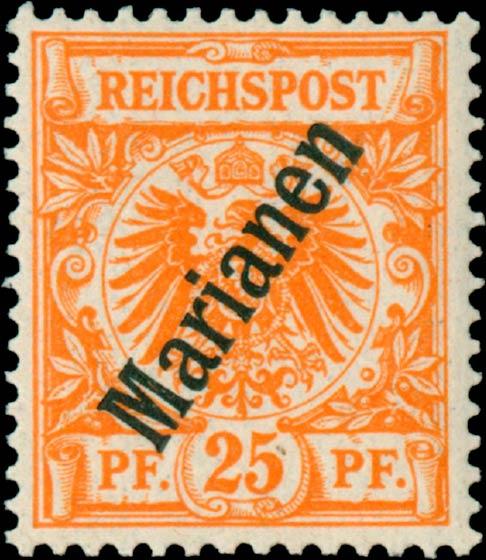 Marianen_1900_German_Reich_25pf_Genuine