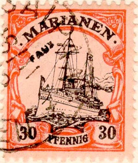 Marianen_1901_Kaiseryacht_30pf_Fournier_Forgery