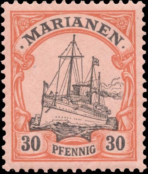Marianen_1901_Kaiseryacht_30pf_Genuine