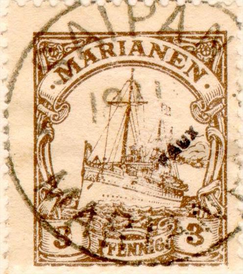 Marianen_1901_Kaiseryacht_3pf_Fournier_Forgery