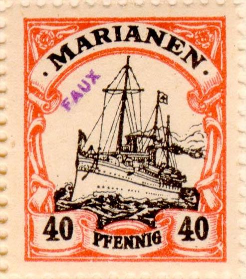 Marianen_1901_Kaiseryacht_40pf_Fournier_Forgery