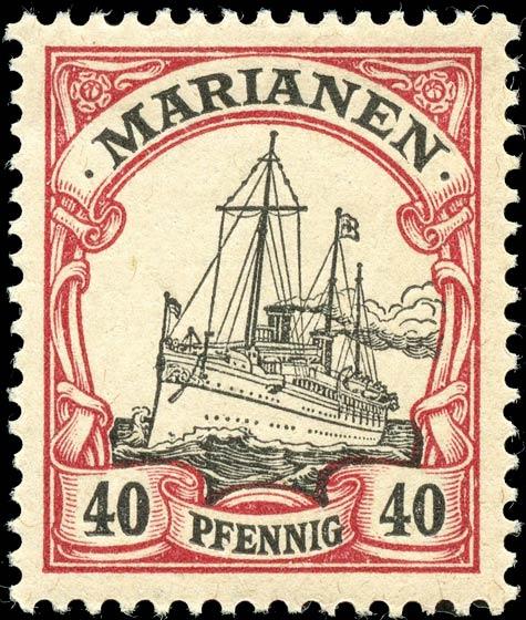 Marianen_1901_Kaiseryacht_40pf_Genuine