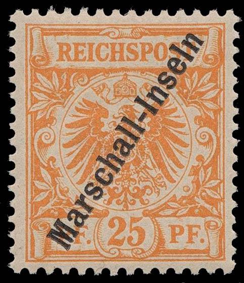 Marshall_Islands_1897_German_Reich_25pf_Genuine