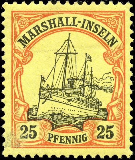 Marshall_Islands_Kaiseryacht_25pf_Genuine