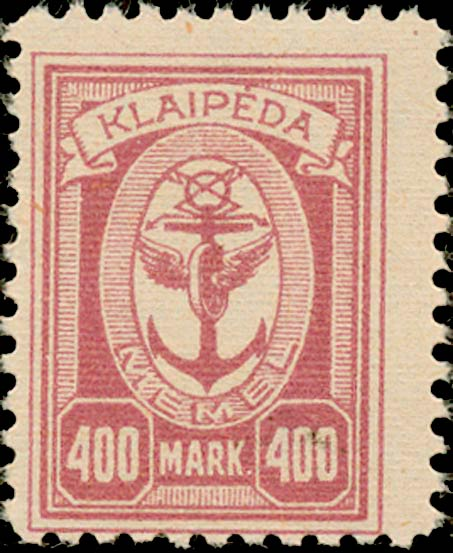 Memel_Klaipeda_1923_400mark_Genuine