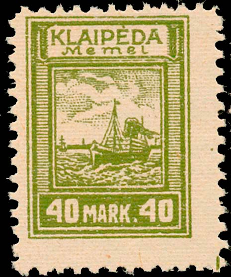 Memel_Klaipeda_1923_40mark_Genuine