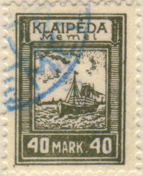 Memel_Klaipeda_1923_40mark_Szekula_Forgery
