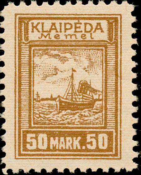 Memel_Klaipeda_1923_50mark_Genuine