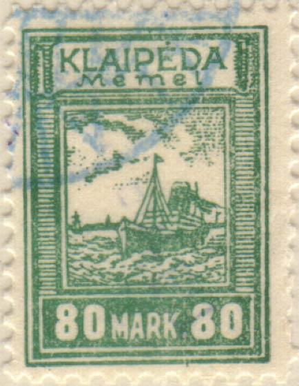 Memel_Klaipeda_1923_80mark_Szekula_Forgery