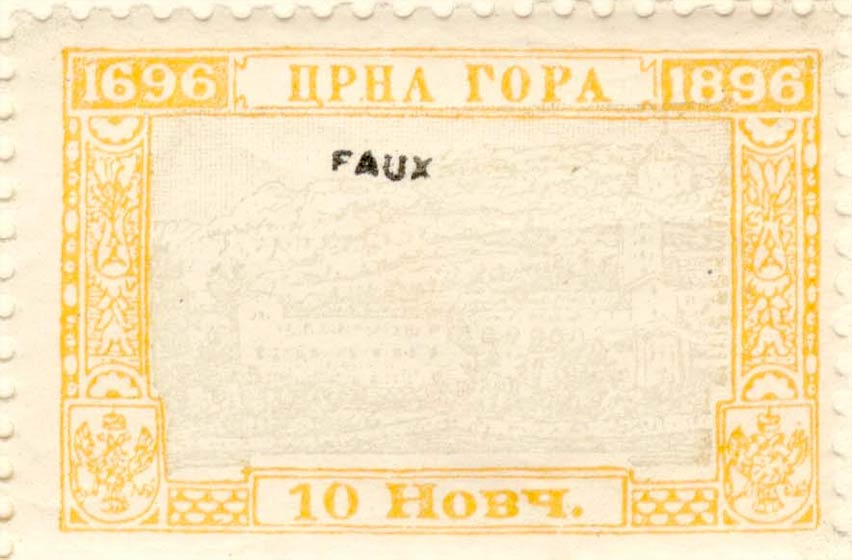 Montenegro_1896_200years_10nkr_Fournier_Forgery