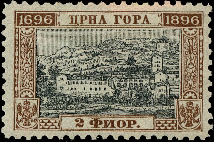Montenegro_1896_200years_2g_Genuine