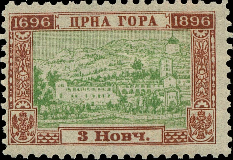 Montenegro_1896_200years_3nkr_Genuine
