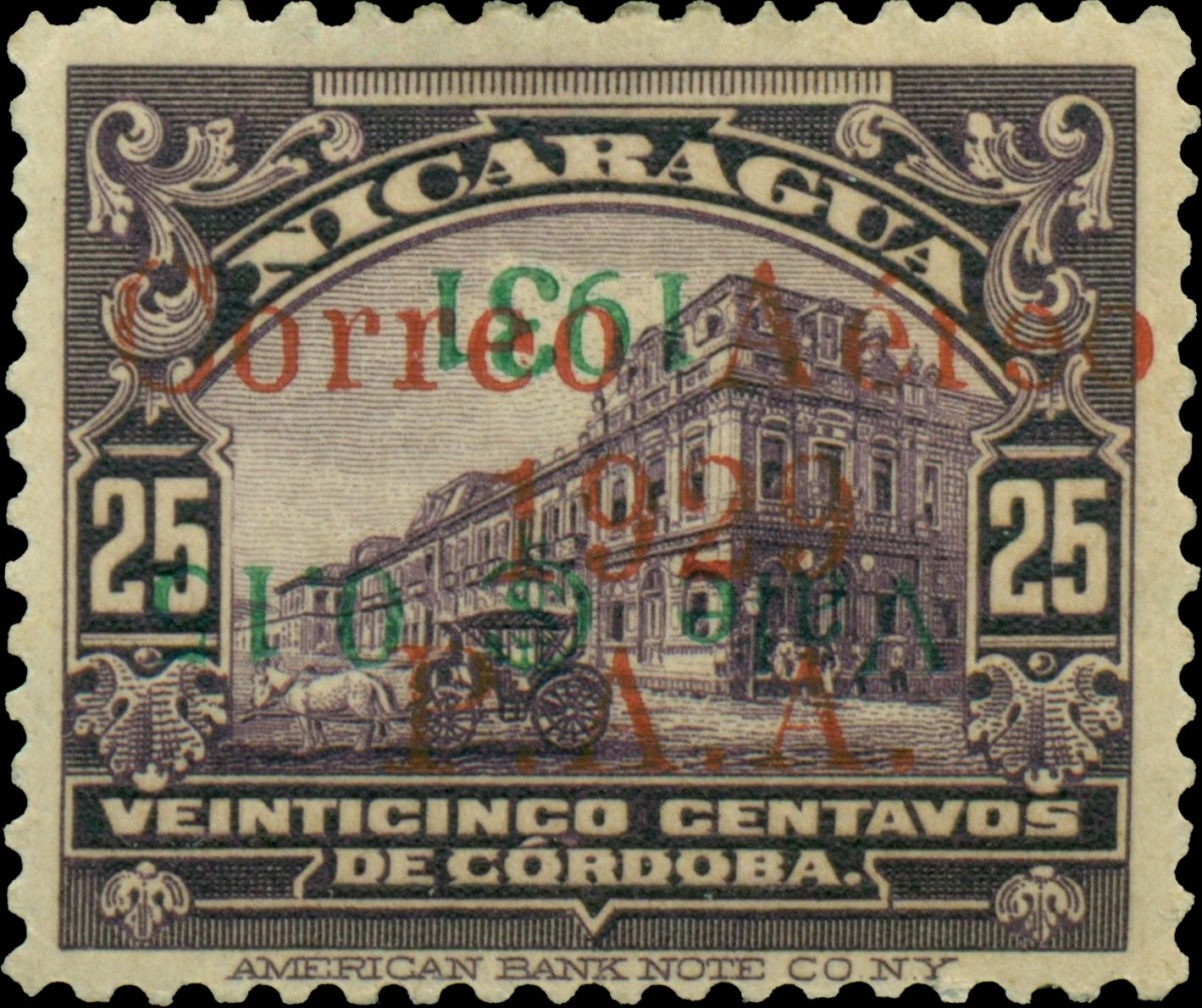 Nicaragua_1931_Airmail_15c-on-25c_Forgery