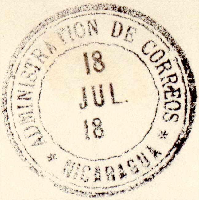 Nicaragua_Fournier_Forged_Postmark