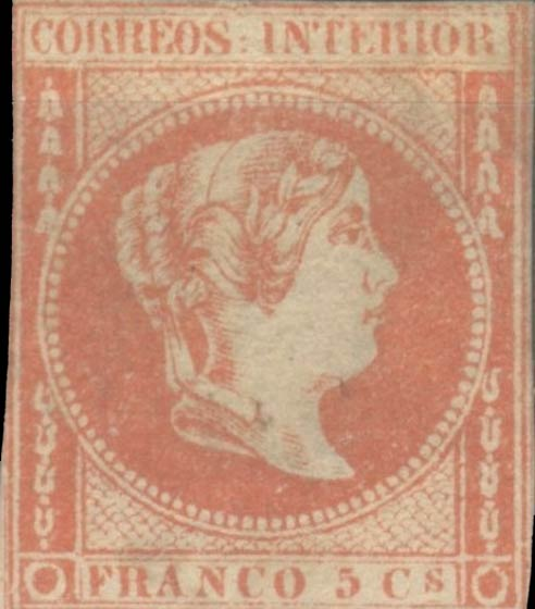 Philippines_1859_Queen_Isabella_5c_Forgery