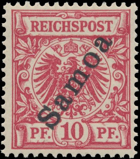 Samoa_1900_Reichpost_Samoa_10pf_Genuine