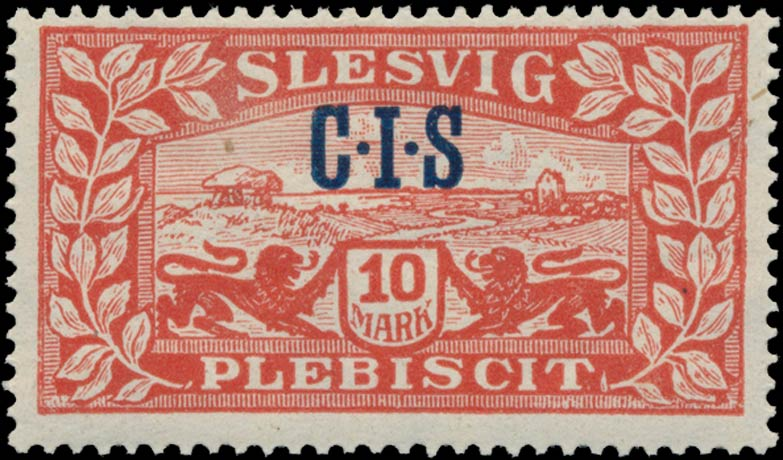 Slesvig_Plebiscit_1920_10mark_CIS_Overprint_Genuine