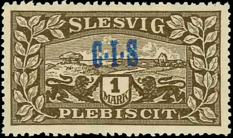 Slesvig_Plebiscit_1920_1mark_CIS_Overprint_Forgery