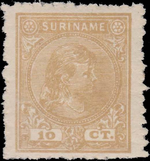 Surinam_1893_Queen_Wilhelmina_10c_Forgery