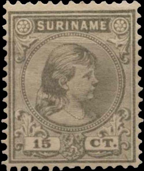 Surinam_1893_Queen_Wilhelmina_15c_Genuine