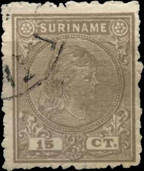 Surinam_1893_Queen_Wilhelmina_15c_Pasche_Forgery