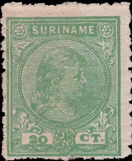 Surinam_1893_Queen_Wilhelmina_20c_Pasche_Forgery