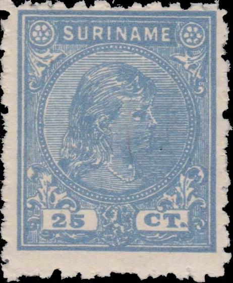 Surinam_1893_Queen_Wilhelmina_25c_Forgery