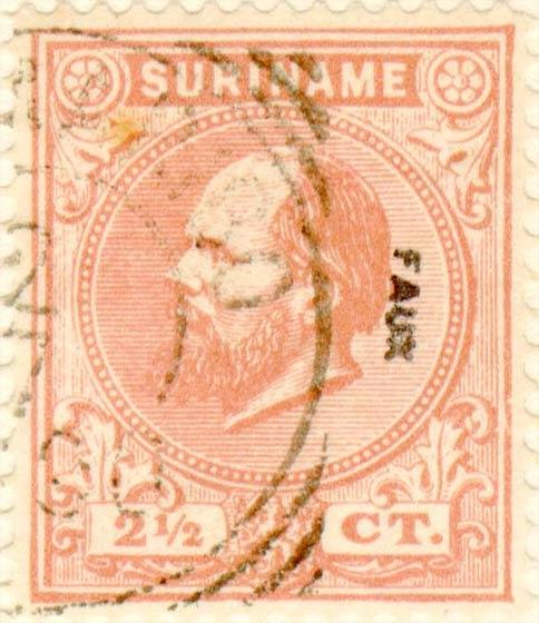 Suriname_1873-1875_King_Wilhelm_III_2.5c_Fournier_Forgery