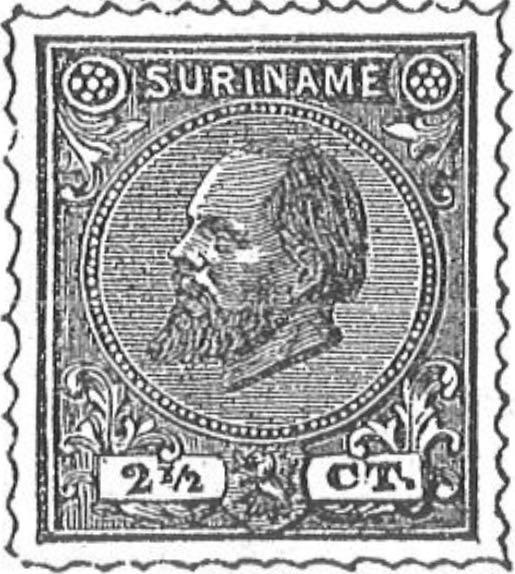 Suriname_1873-1875_King_Wilhelm_III_2.5c_Torres_illustration