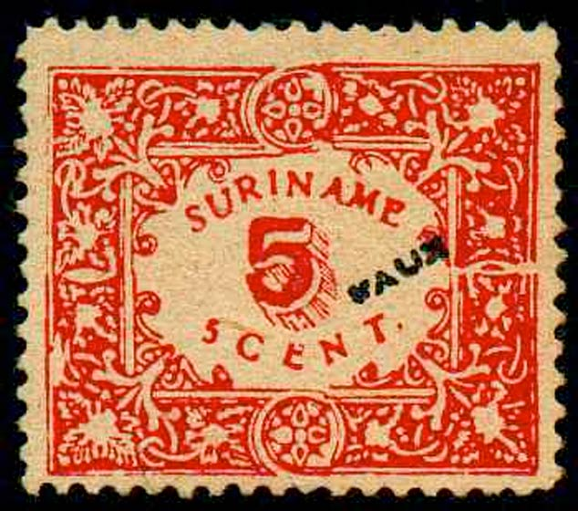 Suriname_1909_5cents_Forgery
