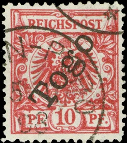 Togo_1897_Reichpost_Togo_10pf_Forgery