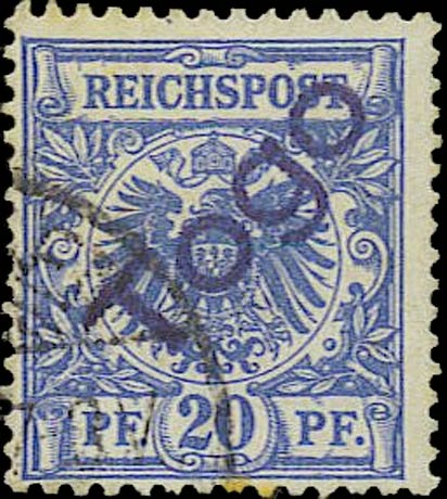 Togo_1897_Reichpost_Togo_20pf_Forgery