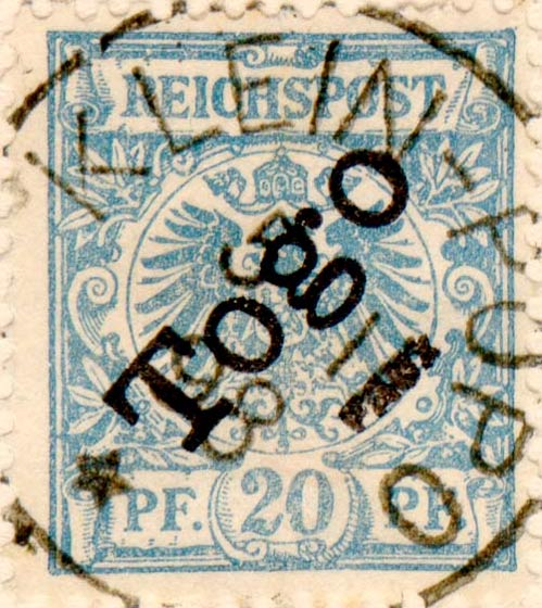 Togo_1897_Reichpost_Togo_20pf_Fournier_Forgery