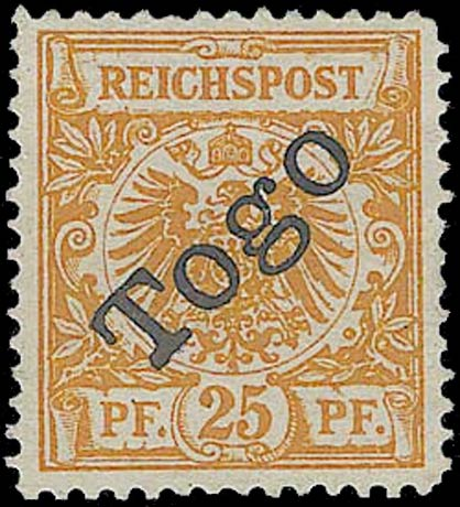 Togo_1897_Reichpost_Togo_25pf_Forgery