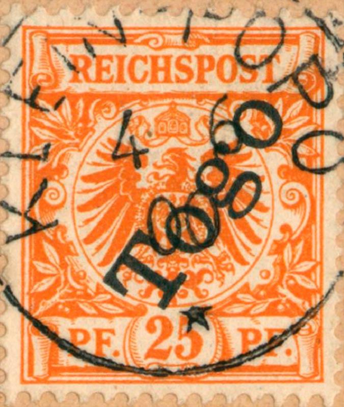 Togo_1897_Reichpost_Togo_25pf_Genuine