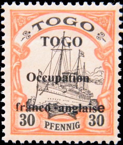 Togo_1915_French_Occupation_30pf_Forgery
