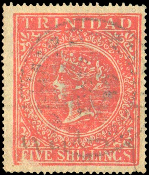 Trinidad_1869_QV_5sh_red_Forgery