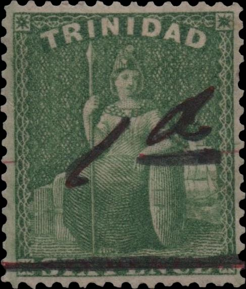 Trinidad_1882_Brittania_green_1d-on-6d_Forgery