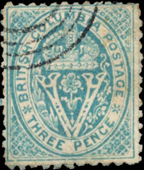 British_Columbia_1865_3cents_Spiro_Forgery_Type2b